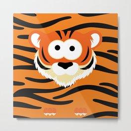 Minimal Tiger Metal Print