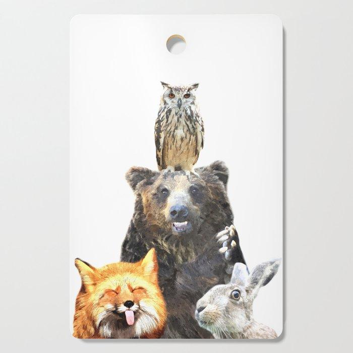 Woodland Animal Friends Cutting Board