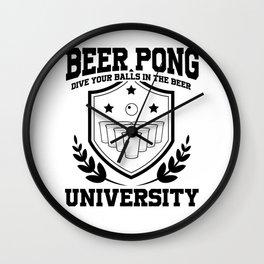 Beer Pong University Drinking Game Mug Gift Wall Clock