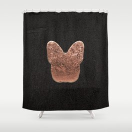 Rose golden embossed Frenchy Shower Curtain