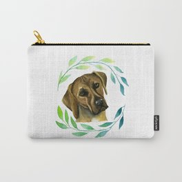 Rhodesian Ridgeback with a Wreath Watercolor Painting Carry-All Pouch