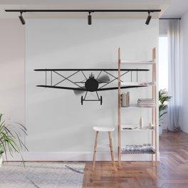 Biplane Silhouette Wall Mural