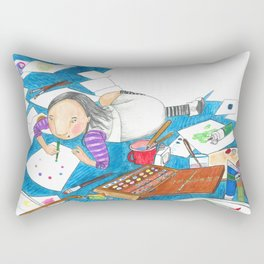Believe in yourself - Art Explosion Rectangular Pillow