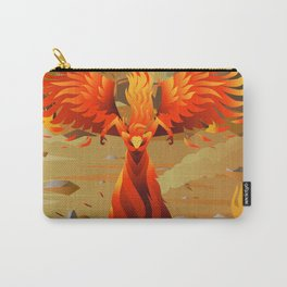 fire elemental fantasy winged creature on wastelands Carry-All Pouch
