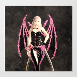 Black pink Evyya Canvas Print