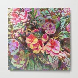 Beautiful Tropical Impatiens Metal Print