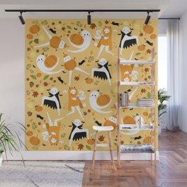 Fall Fresno Nightcrawlers Pattern Wall Mural