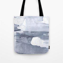 Dark gray nebulous watercolor painting Tote Bag