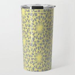 geometric vintage neon/grey Travel Mug