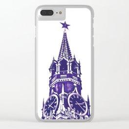Kremlin Chimes-violet Clear iPhone Case