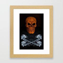 Skull And Crossbones 2 Framed Art Print