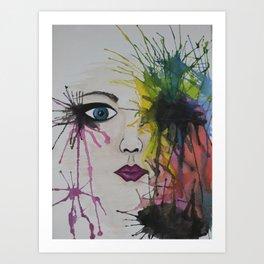 water colour - face Art Print