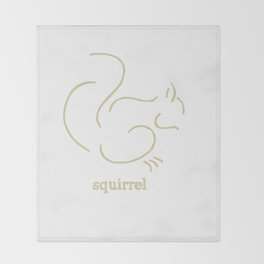 Squirell Throw Blanket