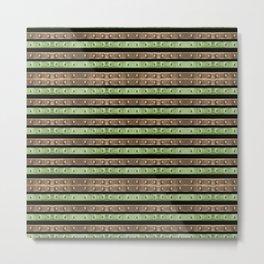 Camo Stripes Print Metal Print