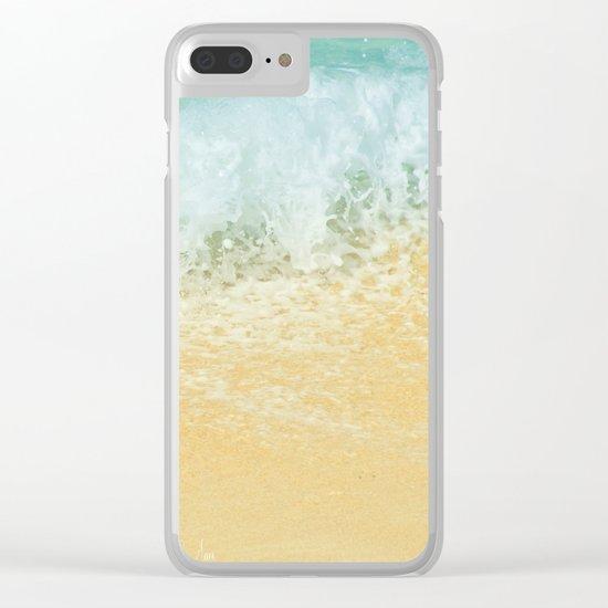 Kite Beach Ocean Splash Clear iPhone Case