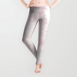 Elegant Scintillant Pink Glitter bokeh Sparkles Photo Leggings