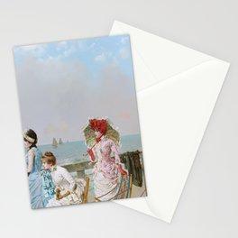 Mezzogorno al Mare by Vittorio Matteo Corcos Stationery Cards