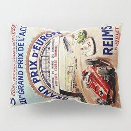 Gran Prix de LACF, Reims, 1959, original vintage poster Pillow Sham