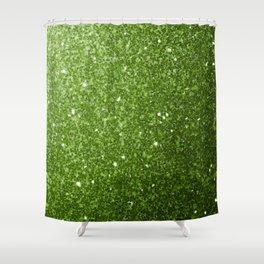 Beautiful light green greenery glitter sparkles Shower Curtain