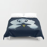 fullmetal Duvet Covers featuring Little Brother by Bocaci