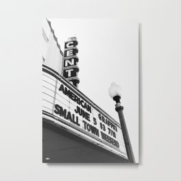 Small Town Theater Metal Print