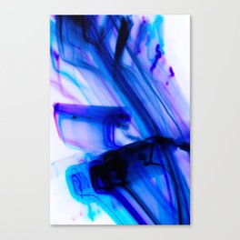 Vivid Electric Violet Line Art Canvas Print