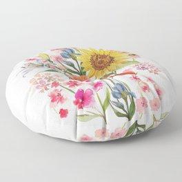 Tuscan Florals Floor Pillow
