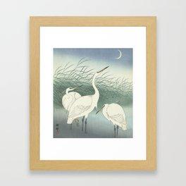 Herons in Shallow Water, Ohara Koson, 1934 Framed Art Print