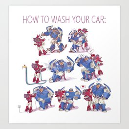 How to wash your car Art Print
