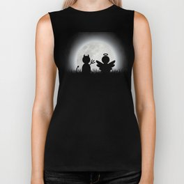 Angel and Devil Moon Meeting Biker Tank