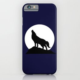 Howling Moon Wolf iPhone Case