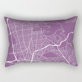 Berkeley Map, USA - Purple Rectangular Pillow