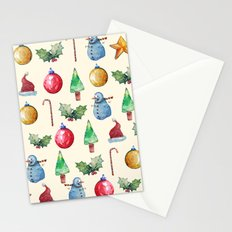 Christmas!! Pattern! (Holidays) Stationery Cards