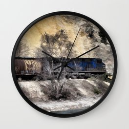 Rocky Mountain Ranger Train Wall Clock