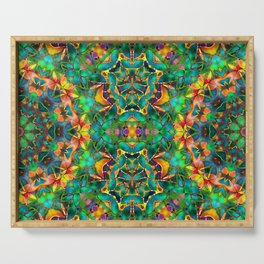 Fractal Floral Abstract G87 Serving Tray