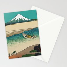 Tama River and Mount Fuji Stationery Cards