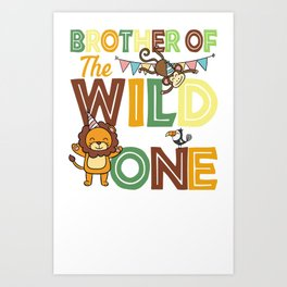 Brother Of The Wild One Art Print