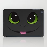 toothless iPad Cases featuring Toothless by K-Bear