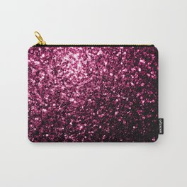 Beautiful Dark Pink glitter sparkles Carry-All Pouch