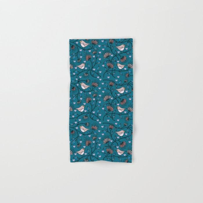 Birds Pattern Hand & Bath Towel