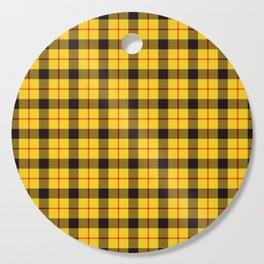As If, Yellow Plaid Tartan Cutting Board