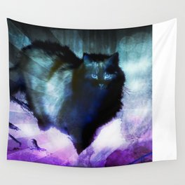 The Spooky Cat Wall Tapestry