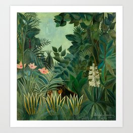 "Henri Rousseau ""The Equatorial Jungle"" Art Print"