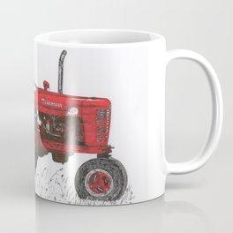 Farmall Super M, International Harvester Tractor Drawing Coffee Mug