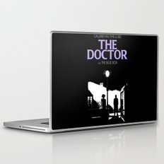 The Exorcist movie poster parody of Doctor Who 10th Laptop & iPad Skin