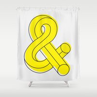 ampersand Shower Curtains featuring Ampersand by MADEYOUL__K