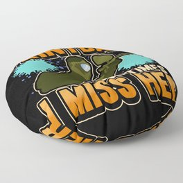Paintball Funny Saying Marker Gotcha Gift Floor Pillow