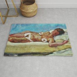 Nude figure in Interior (Arrondissement Left Bank, Paris 17) by Kees Van Dongen Rug