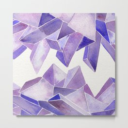 Amethyst Watercolor Metal Print