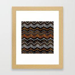 Handpainted Boho, Fall Framed Art Print